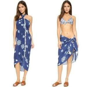 Soleil Pareo Fringe Beach Sarong Cover Up